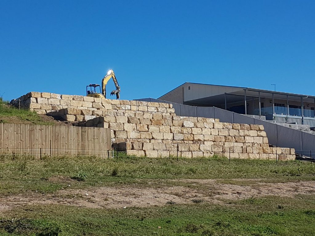 B Grade sandstone wall