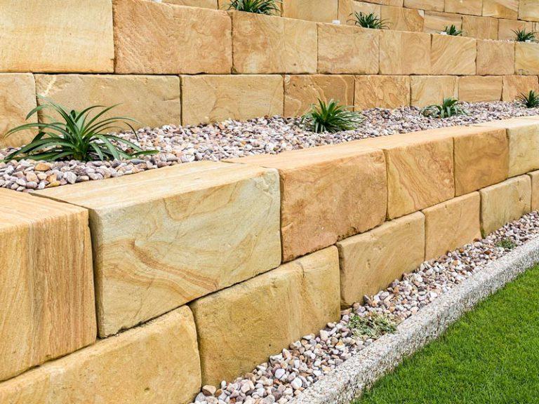 A Grade sandstone wall