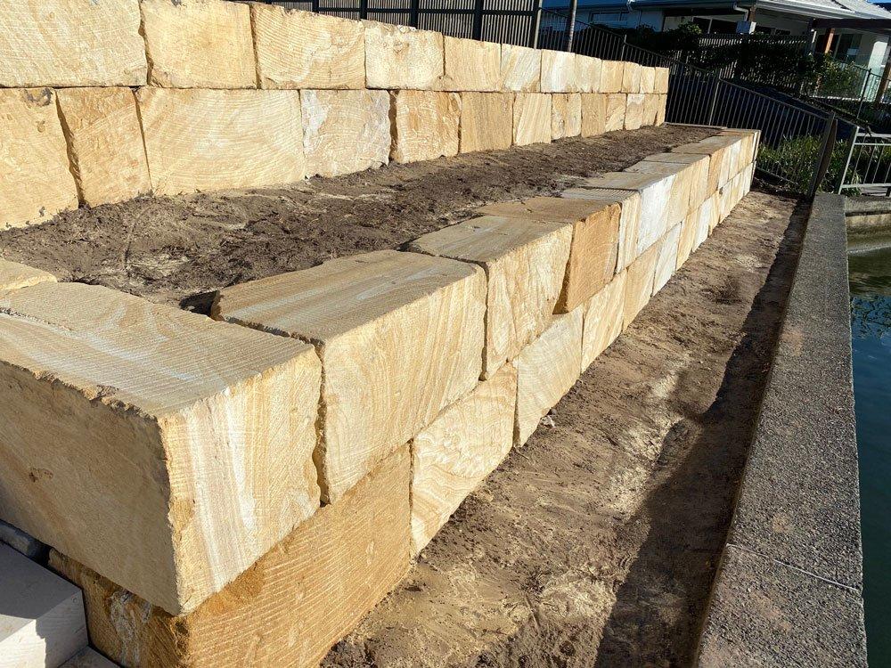 B Grade Premium sandstone wall